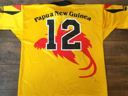 2001 Papua New Guinea Stanley Gene Match worn Rugby League Shirt vs Australia