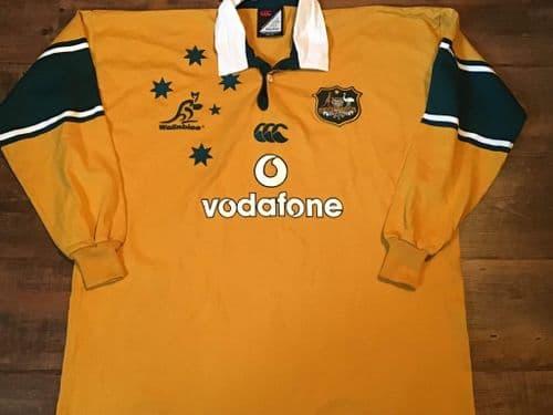 2002 2003 Australia L/s Rugby Union Shirt 2XL XXL