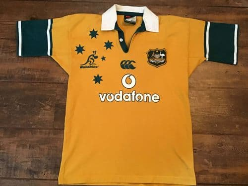 2002 2003 Australia S/s Rugby Union Shirt Adults Small Wallabies