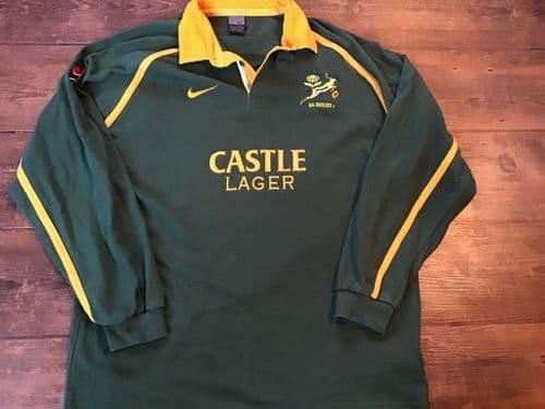 2002 2003 South Africa L/s Rugby Shirt XL 2XL