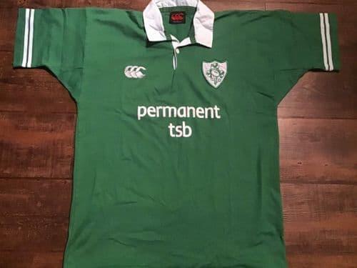 2002 2004 Ireland Rugby Union Shirt Large