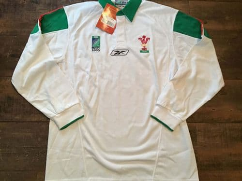 2003 Wales BNWT World Cup L/s Rugby Union Shirt Medium XL
