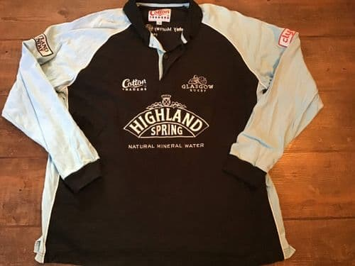 2004 2005 Glasgow Warriors L/s Rugby Union Shirt 2XL