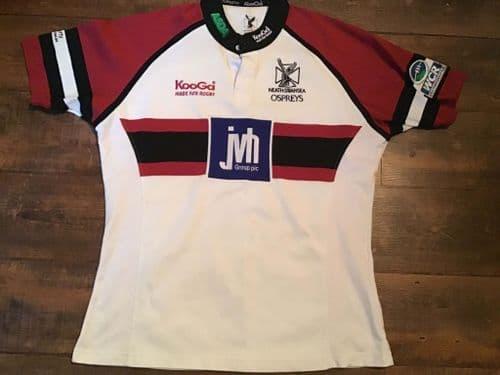 2004 2005 Neath & Swansea Ospreys Rugby Union Shirt Adults 2XL