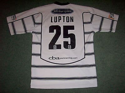 2004 Hull FC Lupton #25 Rugby League Shirt Adults Medium