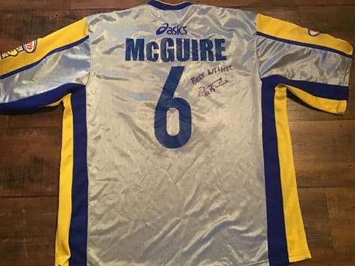 2004 Super League Dream Team McGuire Signed Rugby Shirt Large
