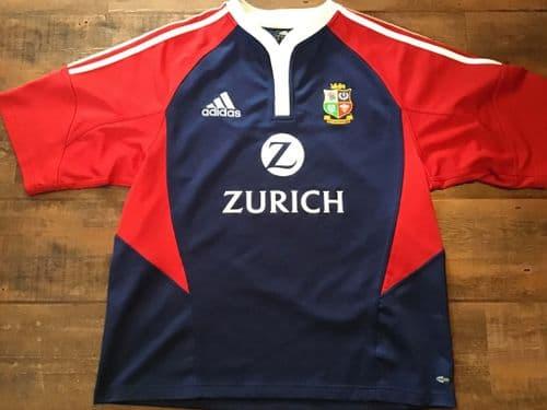 2005 British and Irish Lions Blue Rugby Training Shirt Large XL