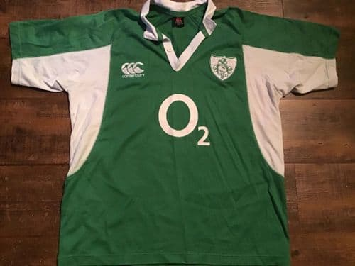 2006 2007 Ireland S/s Rugby Union Home Shirt Large