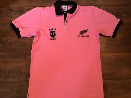 2006 New Zealand Rugby Union Stade Francais Polo Shirt Small