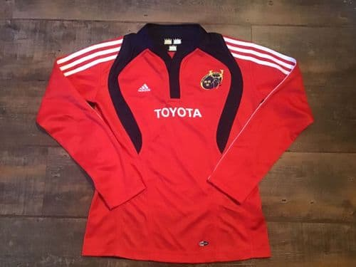 2007 2008 Munster L/s Rugby Union Shirt Youth Medium