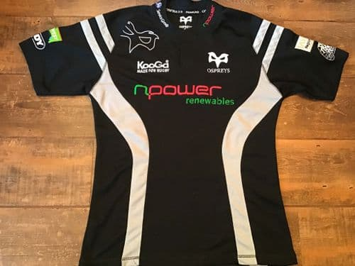 2007 2008 Ospreys Rugby Union Home Shirt Adults Medium