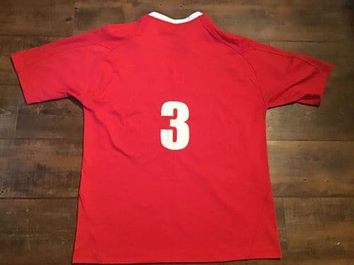 2007 2008 Wales No 3  Player Rugby Union Shirt 2XL