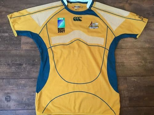 2007 Australia World Cup Player Issue Rugby Union Shirt 2XL
