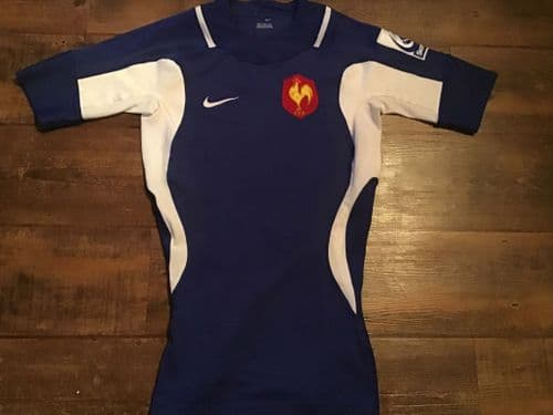 2007 France  Home Sevens Pro Rugby Union Shirt Medium Tall