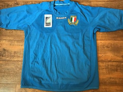 2007 Italy World Cup Rugby Union Home Shirt 3XL XXXL