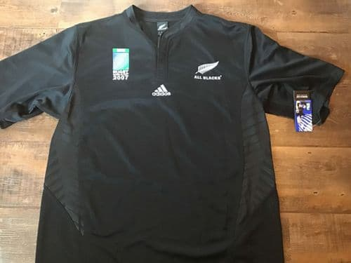 2007 New Zealand BNWT World Cup Rugby Shirt & Protective Cover 2XL