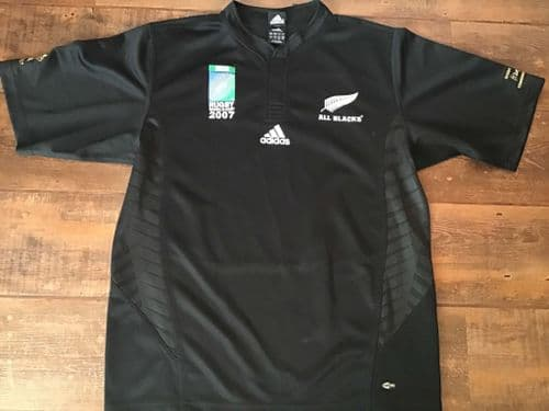 2007 New Zealand World Cup Rugby Shirt Large