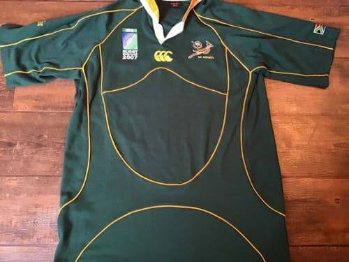 2007 South Africa World Cup Champions Rugby Shirt XL