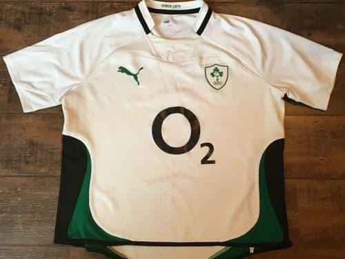 2009 2010  Ireland Away Rugby Union Shirt 2XL XXL