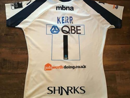 2009 2010 Sale Sharks Kerr Player Rugby Union Shirt XL