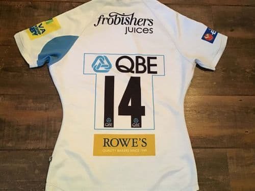 2011 2012 Exeter Chiefs No 14 Player Rugby Shirt Medium