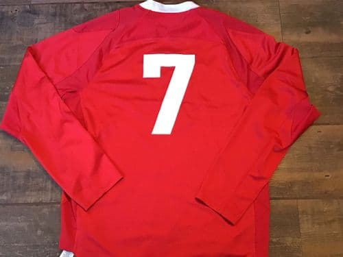 2011 2012 Wales No 7 L/s Rugby Union Shirt Medium