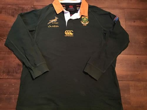 2011 2013 South Africa L/s Springboks Rugby Union Shirt 3XL