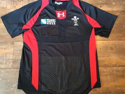 2011 Wales World Cup Rugby Union Away Shirt Medium