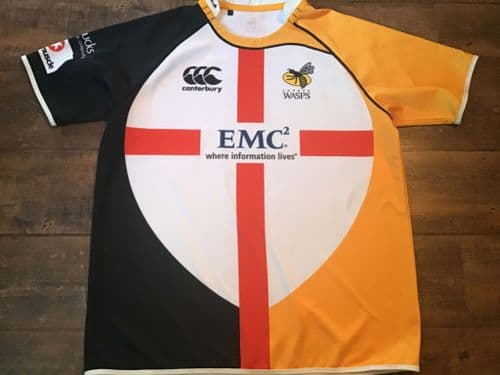 2011 Wasps St Georges Day Rugby Union Shirt 3XL
