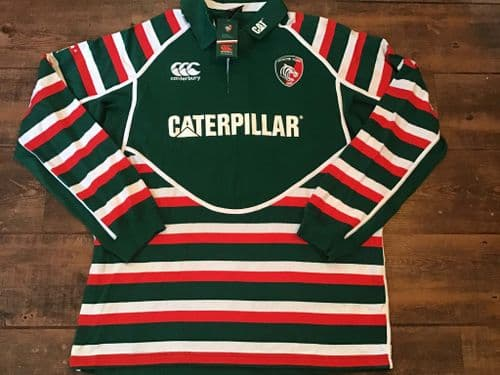 2012 2013 Leicester Tigers BNWT L/s Supporters Shirt 2XL