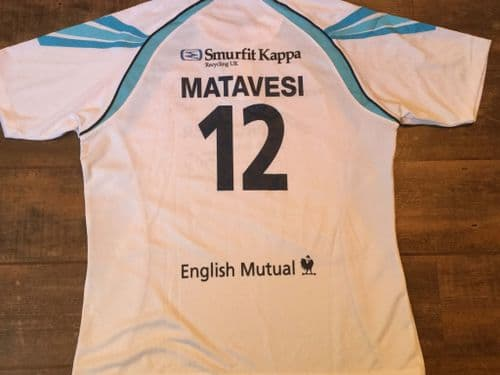 2012 2013 Worcester Warriors BNWT New Matevesi Rugby Union Away Shirt Adults XL