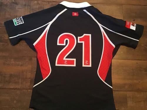 2013 2015 Hong Kong No 21 Player Issue Rugby Union Shirt Medium