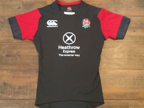 2015 England Sevens 7s Player Issue Rugby Union Training Shirt Adults Large