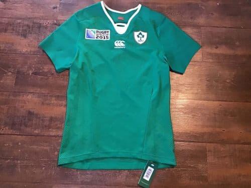 2015 Ireland BNWT World Cup Player Issue Rugby Union Shirt XL