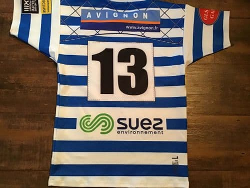 2016 SO Avignon No 13 Players Rugby League Shirt Large