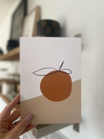 Abstract orange (A4 & A5) TEXTURED CARD
