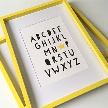 Alphabet (A4 black font with yellow star)