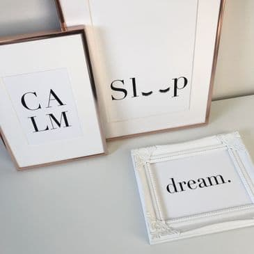 CALM, Sleep (eyelashes), dream. bundle (3 prints)