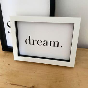 dream. (A5 landscape monochrome) TEXTURED CARD