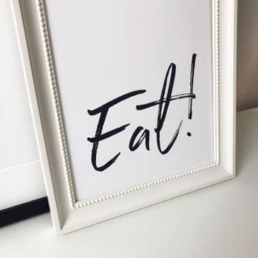 EAT! (A4 dark grey)