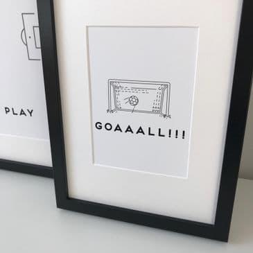 Football Goaaall!!! (A5 black & grey)