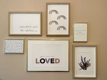 Gallery wall (6 prints)