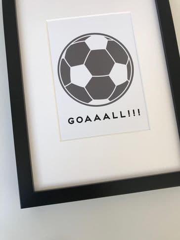 Goaaall (A5 black & grey)