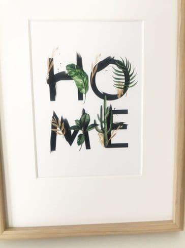 HOME leafy (A5) TEXTURED CARD