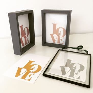 "LOVE - 4 COLOUR OPTIONS  (5x7"" prints)"