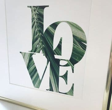 LOVE tropical leaf (A4)