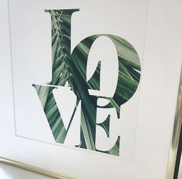 LOVE tropical leaf (A4)