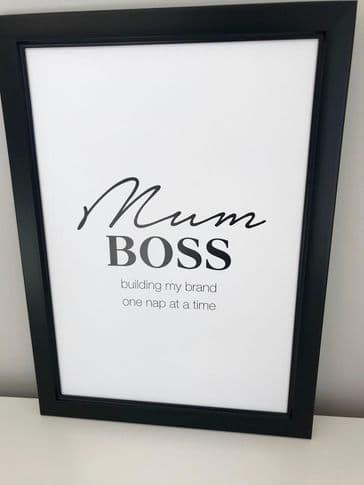 Mum boss (A4 monochrome)