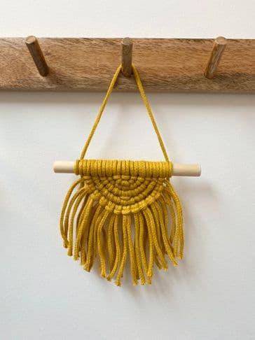 Mustard Mini Macrame