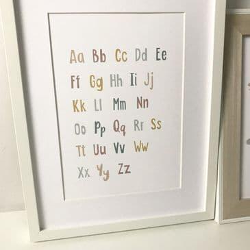 Pastel Alphabet (A4 print)